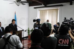 Conferencia de prensa en donde la CICIG y el Ministerio Público dieron detalles de la detención de Alfonso Portillo.