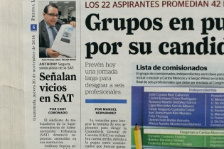 Prensa Libre también publicó los señalamientos de vicios en la SAT por parte del Sindicato de trabajadores de dicha institución.