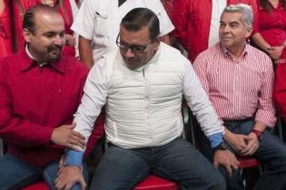 Manuel Baldizón en su último mitin de la campaña electoral.