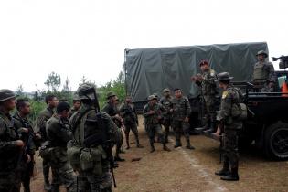 El ejército estableció un destacamento en Santa María Xalapán.