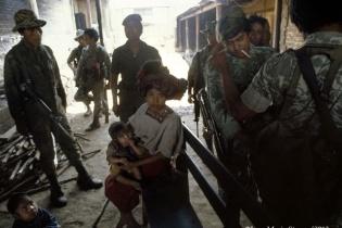 Captura de mujer viuda y niños en Chajul, Quiché.