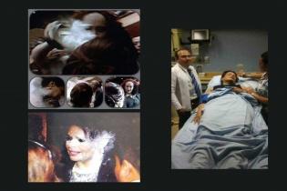 Una mujer del público lanzó polvo blanco sobre la vicepresidenta cuando abandonaba el recinto. Baldetti fue traslada a un centro médico privado. El INACIF determinó más tarde que era cal.