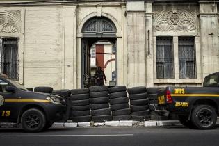 Barrera de Protección policial, zona 2, Ciudad de Guatemala
