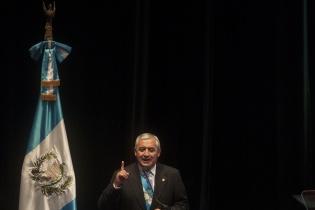 Otto Pérez Molina habló por 40 minutos sobre los logros de sus dos primeros años de administración.