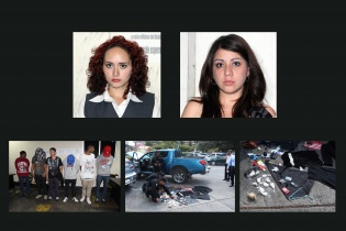 Geraldine del Cid y Cristal Cotón Florián fueron detenidas por lanzar polvo blanco a la vicepresidenta. La policía allanó un vehículo y detuvo a otros sospechosos. El delito de atentado contra altos funcionarios es castigado con pena de prisión de 5 a 15 años.