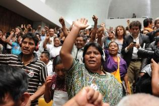 """Varios asistentes a la audiencia gritaban """"justicia""""."""
