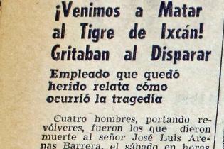 """La noticia de la muerte del """"Tigre de Ixcán""""."""