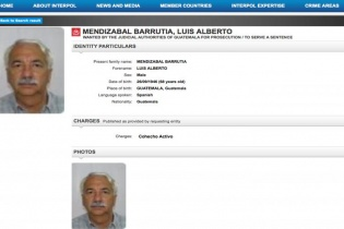 Luis Mendizabal aparece en la página de internet de Interpol con orden de captura por cohecho activo.