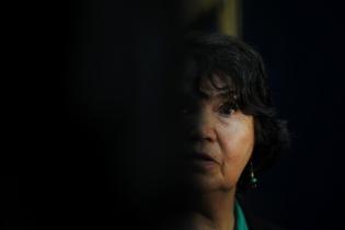 La antropóloga chilena Beatriz Manz, declaró en el juicio que se sigue contra los generales José Efraín Ríos Montt y José Mauricio Rodríguez Sánchez. Fotografías de Sandra Sebastián