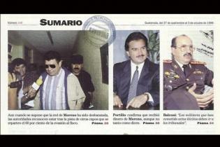 Alfonso Portillo confirmó que recibió dinero de Alfredo Moreno, aunque no tanto como dicen, señaló.