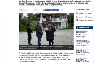 Imagen del momento en que Alfonso Portillo fue capturado, publicada en el diario Prensa Libre.