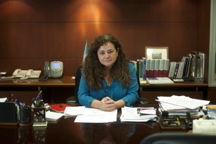 La Fiscal General Claudia Paz y Paz en su oficina en el Ministerio Público.