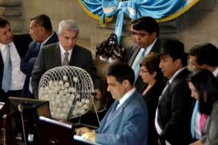 Los diputados del Congreso de la República eligieron este jueves a la Comisión pesquisidora que debe conocer el antejuicio contra el presidente Otto Pérez Molina.