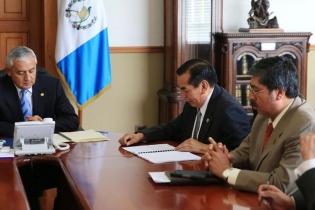 El presidente Otto Pérez se reunió ayer con los integrantes de la Instancia Coordinadora del Sector Justicia, quienes recomendaron prórroga a la CICIG.