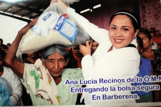 Ana Lucía, hija de Rubelio Recinos, dirige organizaciones de mujeres.
