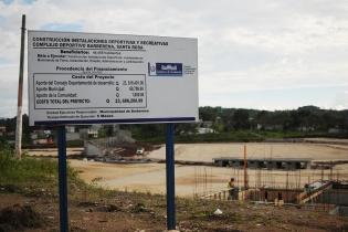 Las instalaciones del complejo deportivo de Barberena que ejecuta la administración de Rubelio Recinos tiene un costo de Q23,686,200.99.