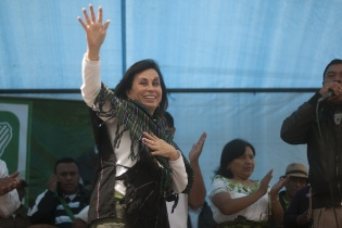 """""""Yo no fui Presidente, fui Primera Dama, y me dediqué a los programas sociales. A los resultados me remito"""", dijo Torres."""