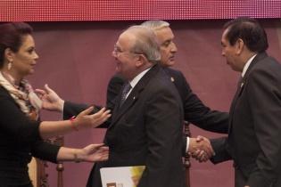 Al evento asistieron los presidentes del Organismo Legislativo y Judicial, además del representante de la Corte de Constitucionalidad. [Sandra Sebastián]