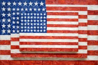 Three Flags, de Jasper Johns (1958)