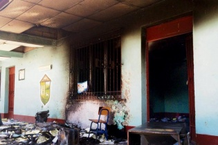 Algunos habitantes de Conguaco, Jutiapa, inconformes, quemaron papeletas y mobiliario electoral.