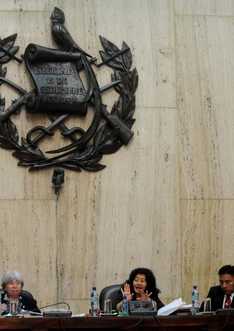 Los miembros del Tribunal, encabezado por Jazmín Barrios.