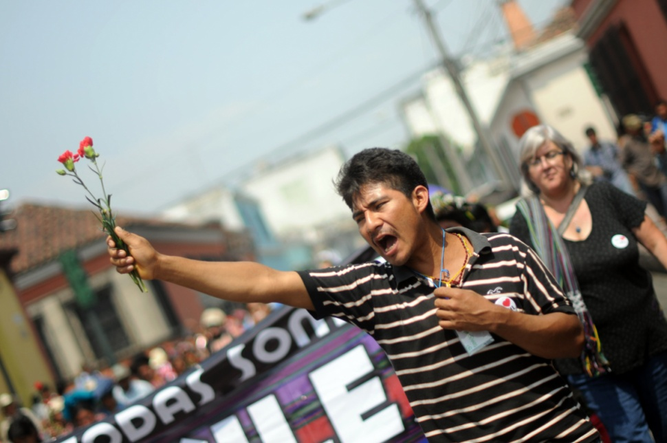 Durante la marcha gritaban justicia.