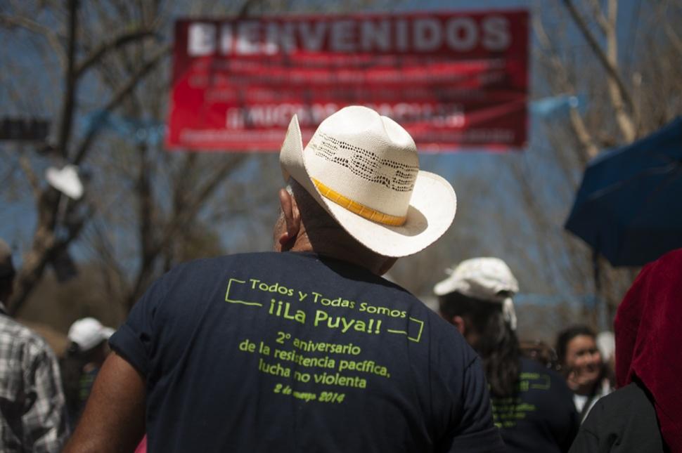 Quienes son parte de La Puya le dieron la bienvenida a visitantes, nacionales y extranjeros, que llegaron a celebrar los dos años de resistencia.