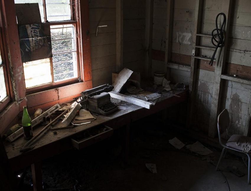Interior de la estación de Tecún Umán, hoy en día. [Simone Dalmasso]