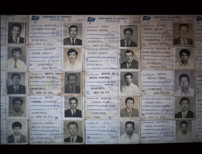 Trabajadores de la empresa Ferrocarriles de Guatemala (FEGUA). [Recopilación de Fausto Aragón, Museo del Ferrocarril]
