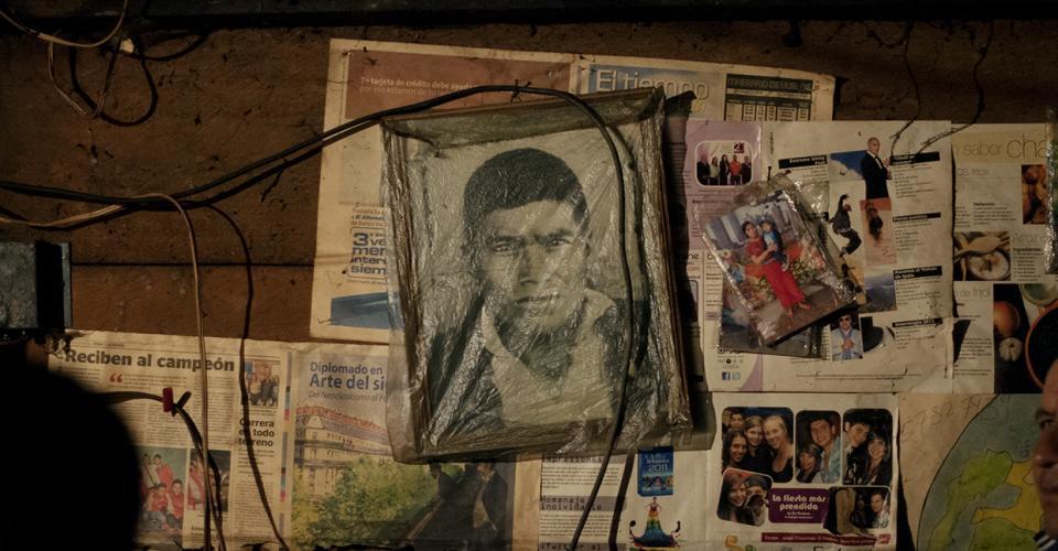 La foto del padre de Pedro Chávez Brito, asesinado durante el conflicto armado.
