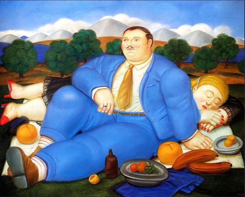 La siesta, de Fernando Botero