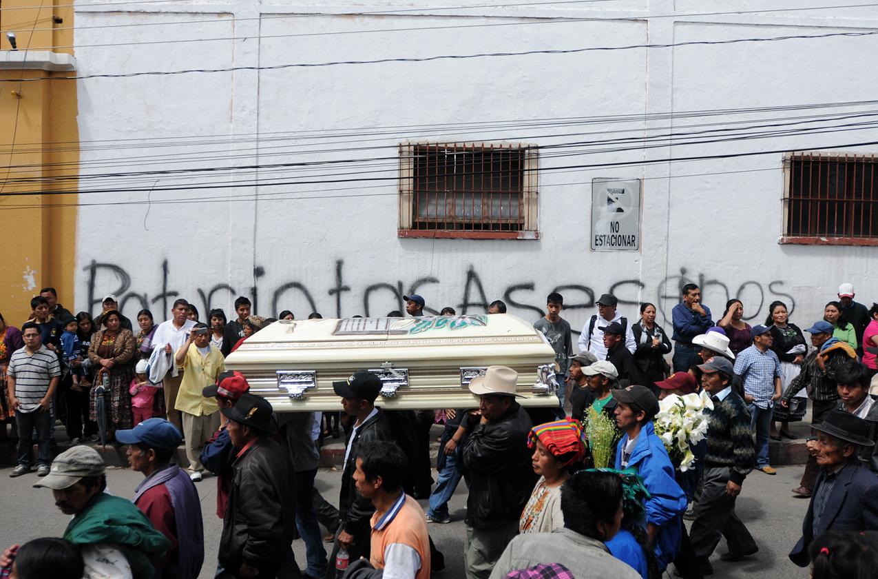 Los dirigentes comunitarios exigieron justicia y el cese de la represión contra los pueblos indígenas.