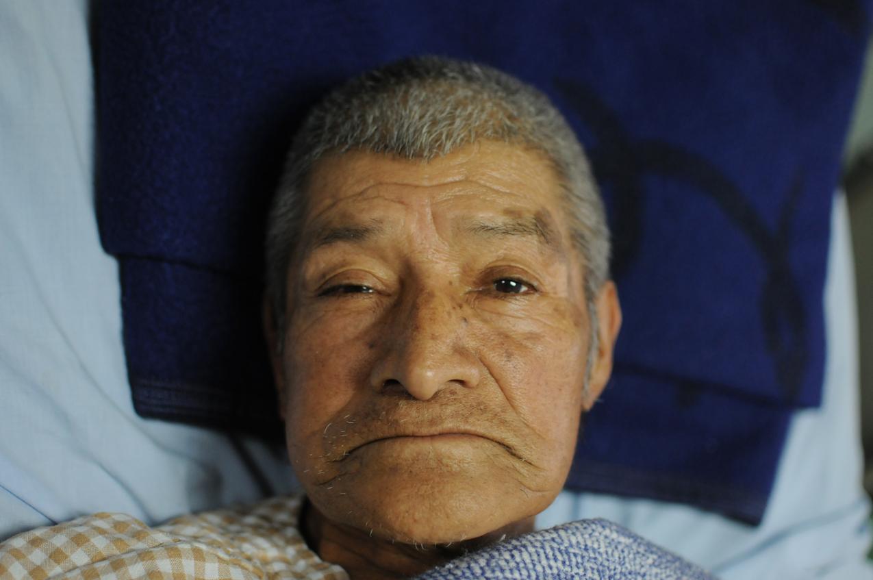 José Cua, herido con bala.