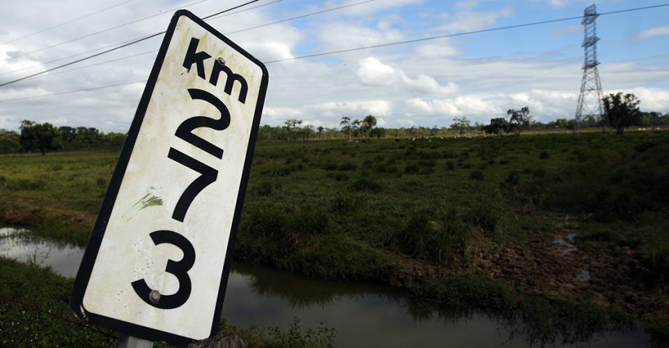 En el kilómetro 273 quedó parado el proyecto.