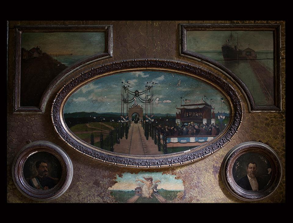 Llegada del tren a la ciudad de Guatemala el 09 de enero de 1908. [Domingo Penedo. Museo Nacional de Historia, Ciudad de Guatemala]