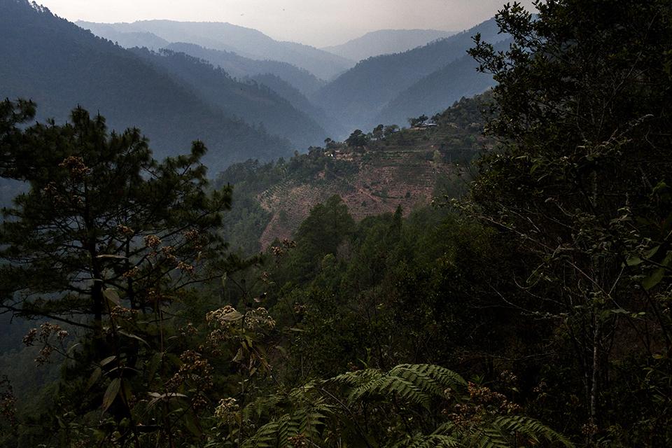 Termina el día en las montañas de Nebaj