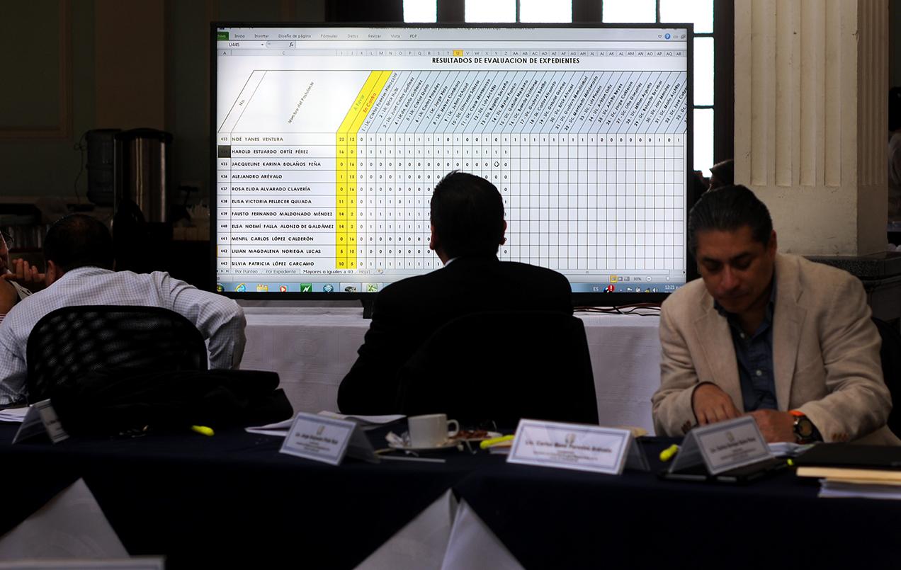 Resultados de evaluación de expedientes. Foto: Sandra Sebastián