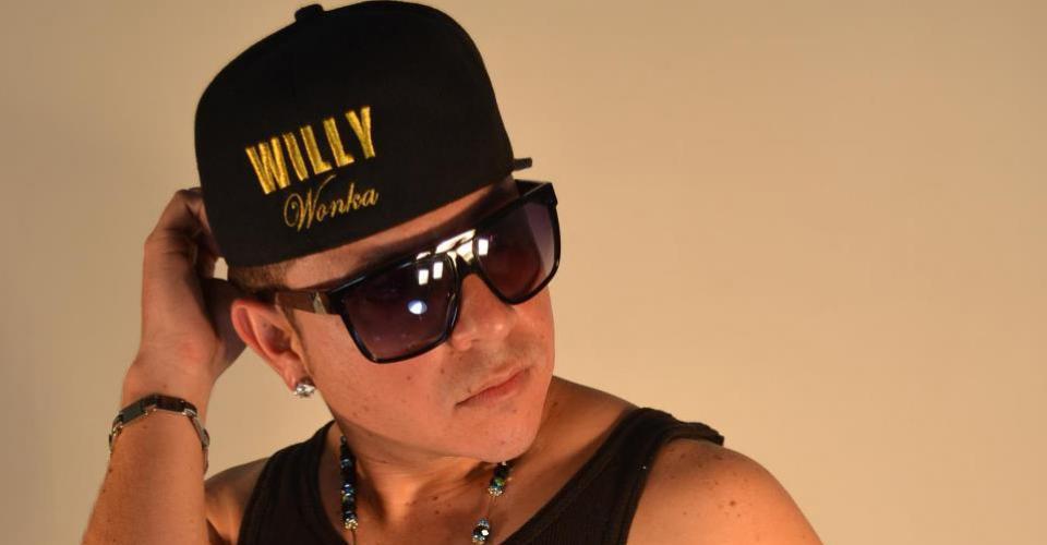 William Colindres, en sus horas como reggaetonero Willy Wonka