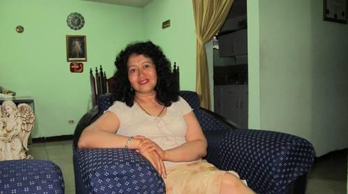Iris Yassmín Barrios durante la entrevista. Fotografía de Blanche Petrich, La Jornada.