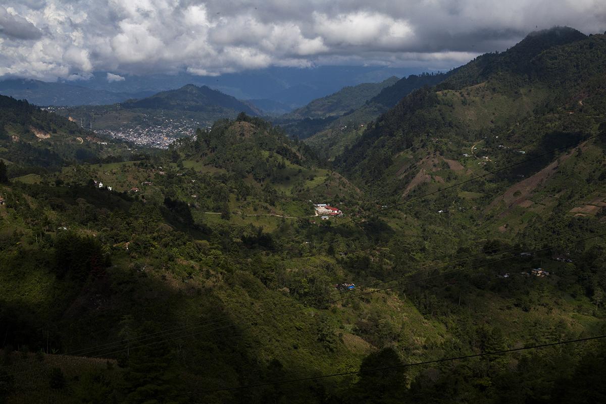Vista del municipio de Santa Cruz Barillas.